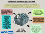 5 point heating oil tank check list